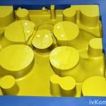 """Стержневой ящик модельного комплекта """"Днище цилиндра"""", пластик Raku-tool 1404, Sika M960"""