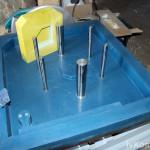 """Стержневой ящик """"Днище цилиндра"""", комбинированный, пластик Raku-tool 1404, алюминий Д16Т, стеклопластик, сталь"""